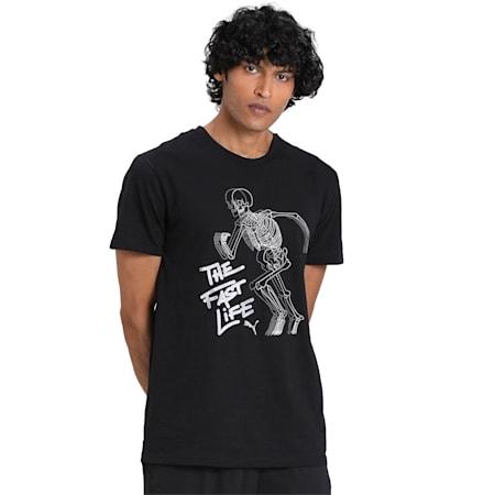 PUMA Graphic dryCELL Men's Training T-Shirt, Puma Black, small-IND