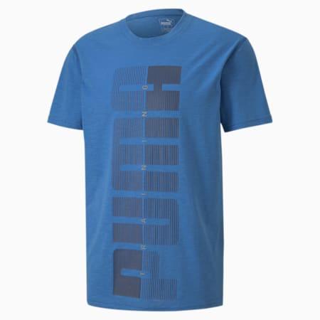 PUMA Graphic Men's Training Tee, Palace Blue, small-SEA
