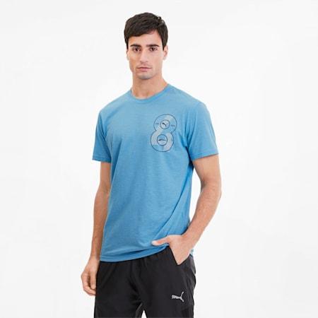 PUMA Graphic Men's Training Tee, Ethereal Blue, small-SEA