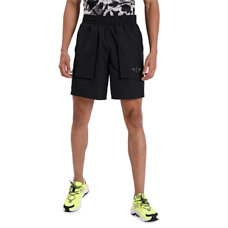 PUMA x FIRST MILE Woven Men's Running Shorts, Puma Black, small-IND