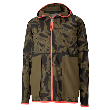 PUMA x FIRST MILE 2-in-1 Running Jacket, Burnt Olive, small-IND