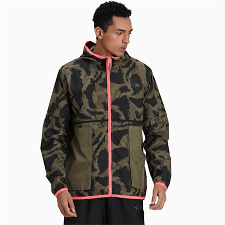 First Mile 2in1 Woven Jacket, Burnt Olive, small-IND
