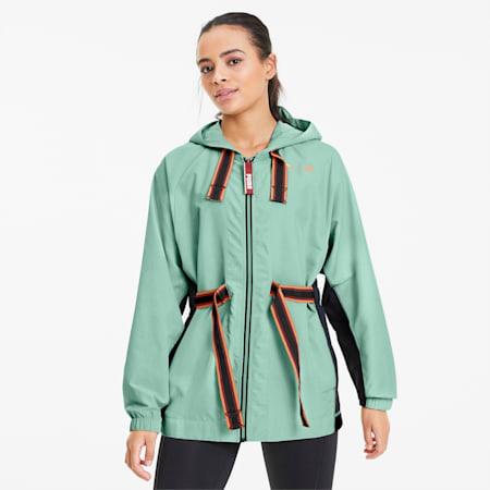 PUMA x FIRST MILE Damen Training Anorak, Mist Green-Puma Black, small