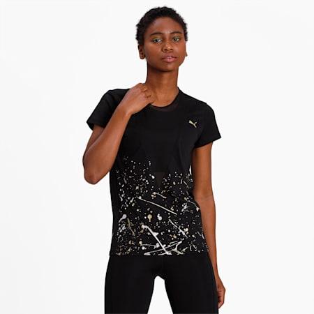 Metal Splash Deep V dryCELL Women's T-Shirt, Puma Black, small-IND
