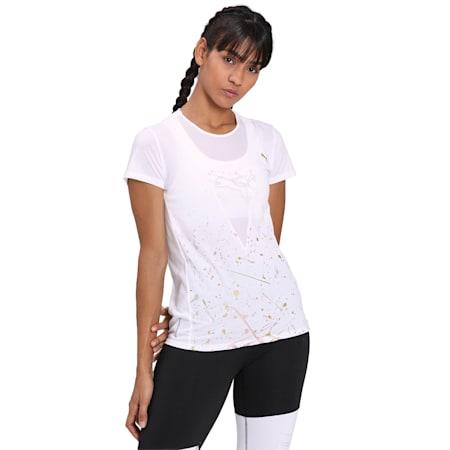 Metal Splash Deep V dryCELL Women's T-Shirt, Puma White, small-IND