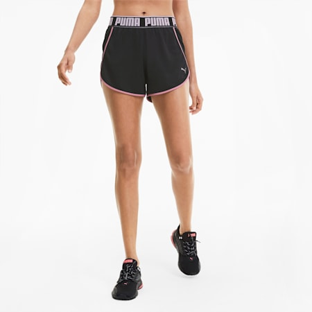 Last Lap Knitted Women's Running Shorts, Puma Black, small