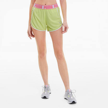Shorts da running Last Lap Knitted donna, Sunny Lime, small