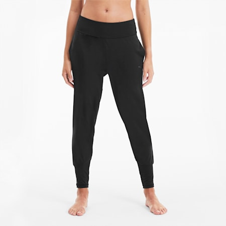 Studio Damen Training Taillierte Hose, Puma Black, small