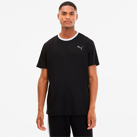 Reactive Colour-blocked dryCELL Men's Training T-Shirt, Black-CASTLEROCK-White, small-IND