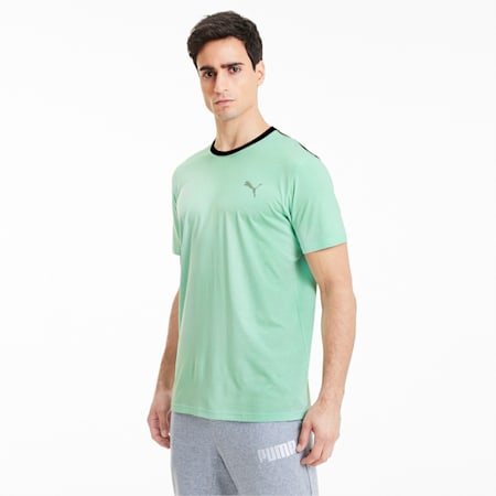 Reactive Colour-blocked dryCELL Men's Training T-Shirt, Green Glmr-CASTLEROCK-Black, small-IND