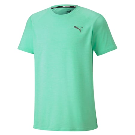 PUPMA Heather dryCELL Men's Training T-Shirt, Green Glimmer Heather, small-IND