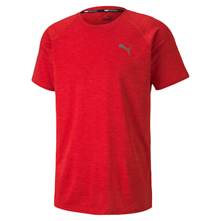 PUPMA Heather dryCELL Men's Training T-Shirt, High Risk Red Heather, small-IND