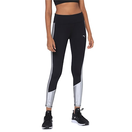 After Glow Mesh Women's Training Leggings, Puma Black-Titanium Silver, small-IND