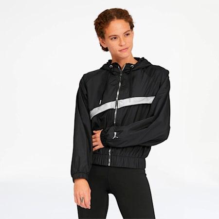 After Glow Women's Statement Jacket, Puma Black-Titanium Silver, small