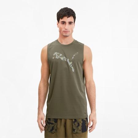 T-shirt da training PUMA x FIRST MILE senza maniche uomo, Burnt Olive, small