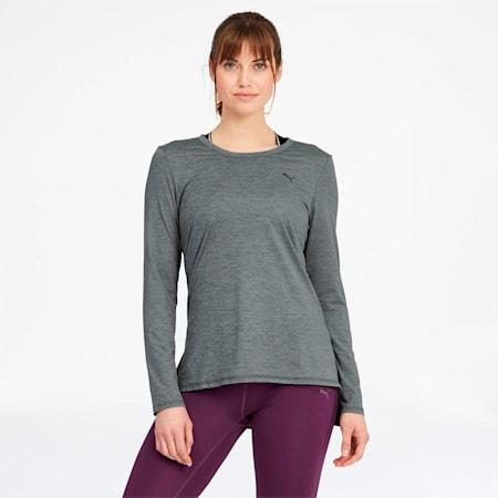 Camiseta de manga larga Studio para mujer, Medium Gray Heather, pequeño
