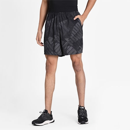 All-Over Print Woven dryCELL Men's Training Shorts, Puma Black-AOP, small-IND