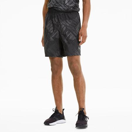 Power AOP Men's Woven Training Shorts, Puma Black-AOP, small