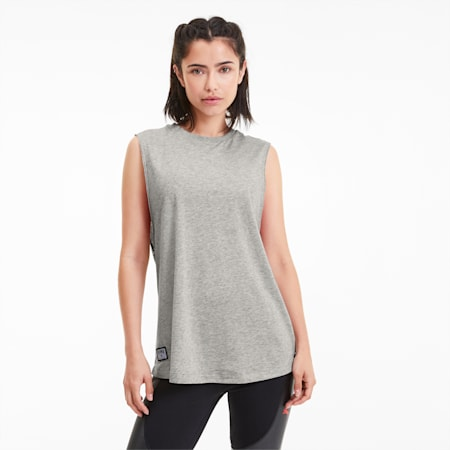 Camiseta de tirantes para mujer PUMA x ADRIANA LIMA Loose Fit, Light Gray Heather, small