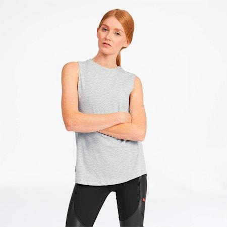 Camiseta sin mangas AL x PUMA para mujer, Light Gray Heather, pequeño