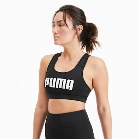 Soutien-gorge de sport 4Keeps pour femme, Puma Black-Puma White PUMA, small