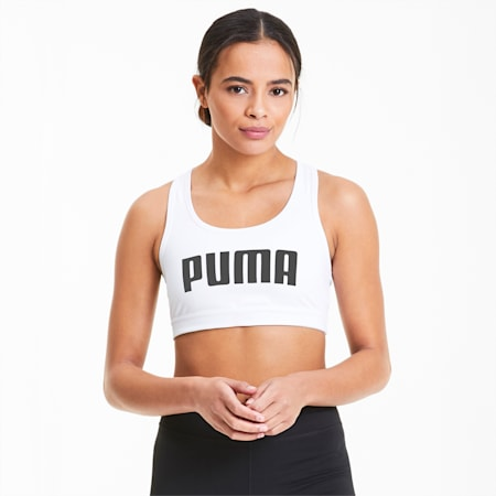 4Keeps Damen Sport-BH, Puma White-Puma Black PUMA, small