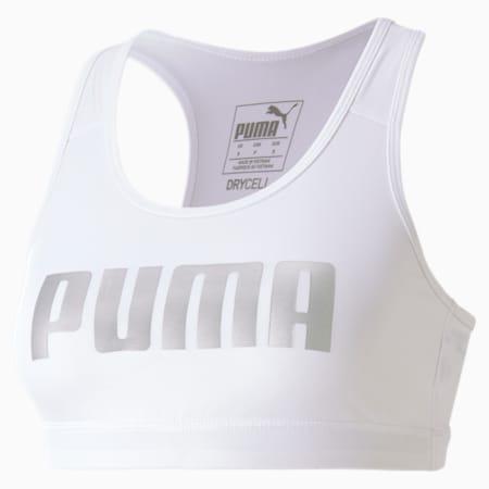Sujetador de entrenamiento para mujer 4Keeps, Puma White-gold PUMA, small