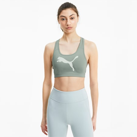 Soutien-gorge de sport 4Keeps pour femme, Aqua Gray-Pearl Pack, small
