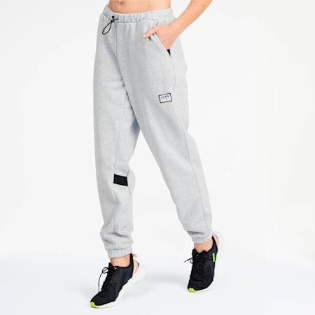 AL x PUMA Women's Sweatpants, Light Gray Heather, small
