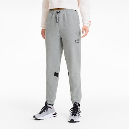 PUMA x ADRIANA LIMA Knitted Women's Sweatpants, Light Gray Heather, small-SEA