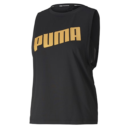 Metal Splash Women's Adjustable Tank, Puma Black, small-IND