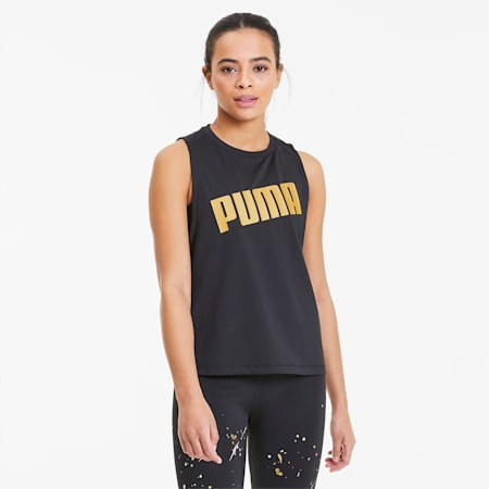 Metal Splash Adjustable Women's Training Tank Top, Puma Black, small