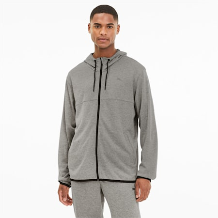 Power Knit Men's Training Jacket, Medium Gray Heather, small