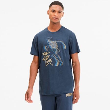 PUMA Graphic Men's T-Shirt, Dark Denim, small-IND