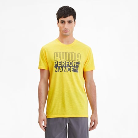 PUMA Graphic Men's T-Shirt, ULTRA YELLOW, small-IND