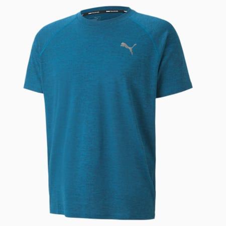 プーマ トレーニング ヘザー SS Tシャツ 半袖, Digi-blue Heather, small-JPN