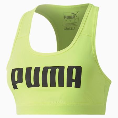 ウィメンズ トレーニング プーマ 4キープ ブラトップ 中サポート, Fizzy Yellow-PUMA, small-JPN