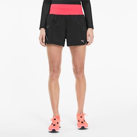 ランナー ID ウィメンズ ランニング 3インチ ショーツ, Puma Black-Ignite Pink, small-JPN