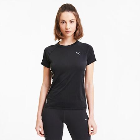 Run Laser Cat Reflective Tec Women's Crewneck T-Shirt, Puma Black, small-IND