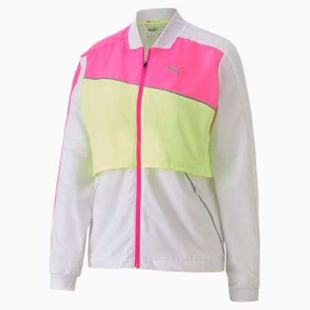 Ultra Women's Running Jacket, WhiteLuminousPinkFizzyYellow, small-GBR