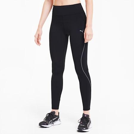 Lite High Waist 7/8 Reflective Tec dryCELL Women's Running Leggings, Puma Black, small-IND