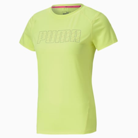 Short Sleeve Women's Running T-Shirt, Fizzy Yellow, small-IND