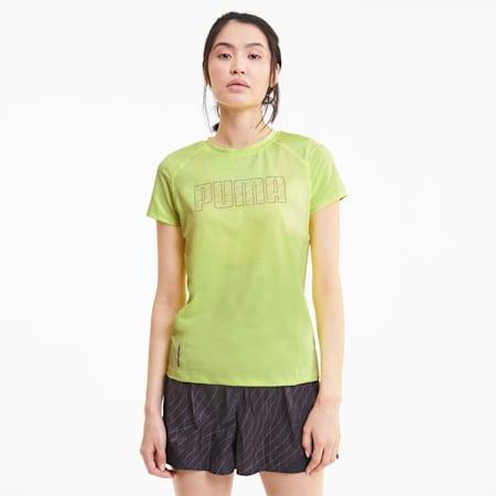 Short Sleeve Women's Running Tee, Fizzy Yellow, small-SEA