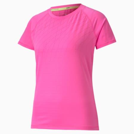 Graphic Short Sleeve Women's Running T-Shirt, Luminous Pink, small-IND