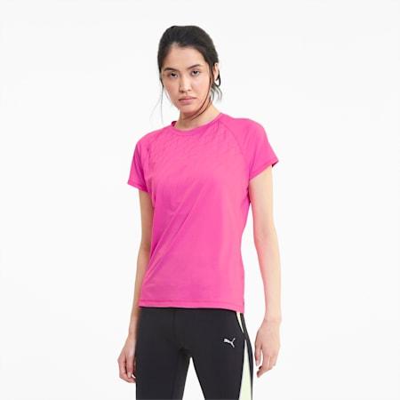 Graphic Short Sleeve Women's Running Tee, Luminous Pink, small-SEA