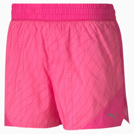 """Graphic 3"""" Women's Running Shorts, Luminous Pink, small-SEA"""