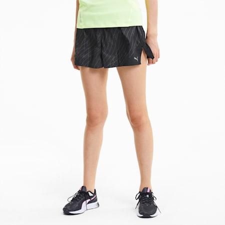 "Graphic 3"" Women's Running Shorts, Puma Black, small-IND"