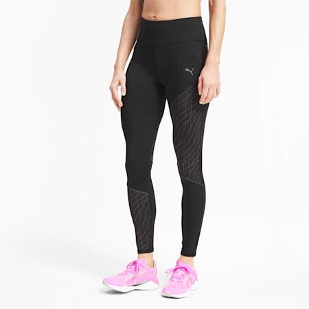 Graphic Long Women's Running Leggings, Puma Black, small