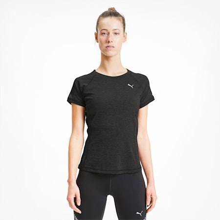 Runner ID dryCELL Women's Running Fitted T-Shirt, Puma Black Heather, small-IND