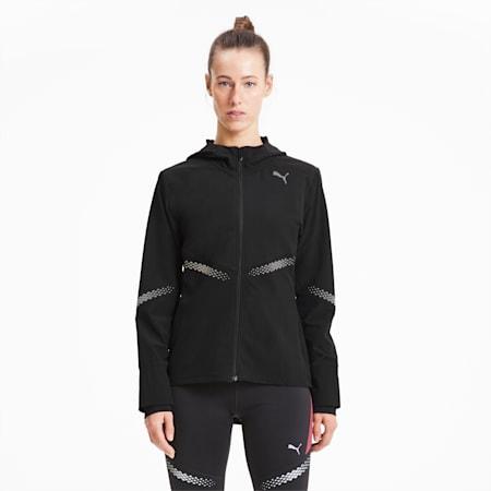 Runner ID Hooded Women's Running Jacket, Puma Black, small